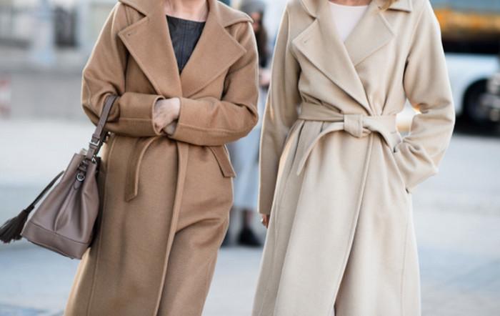 шерстяное бежевое пальто