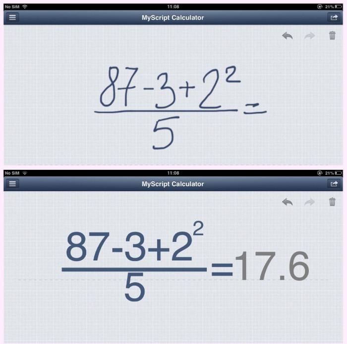 приложение MyScript Calculator