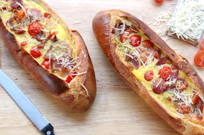 бутерброд в батоне
