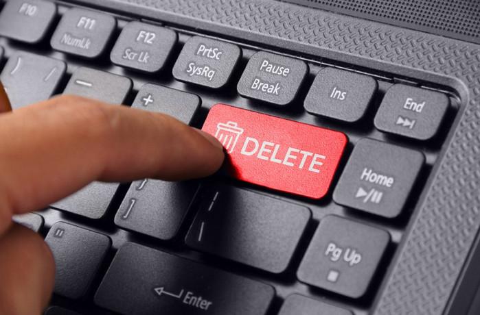 кнопка delete
