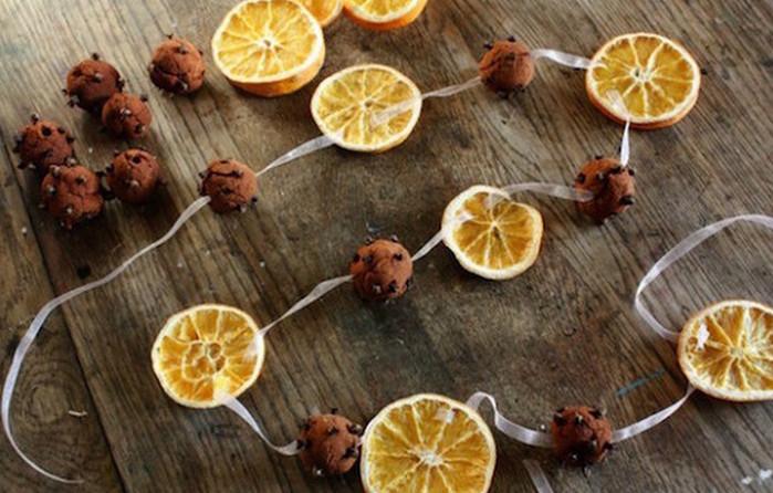 гирлянда из сушеных апельсинов