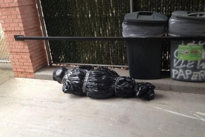 елка на мусорке