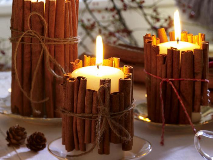 коричная свеча