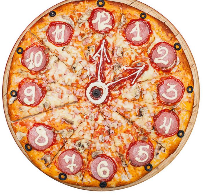 новогодняя пицца