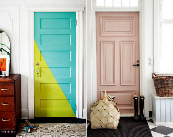 покрашенные двери