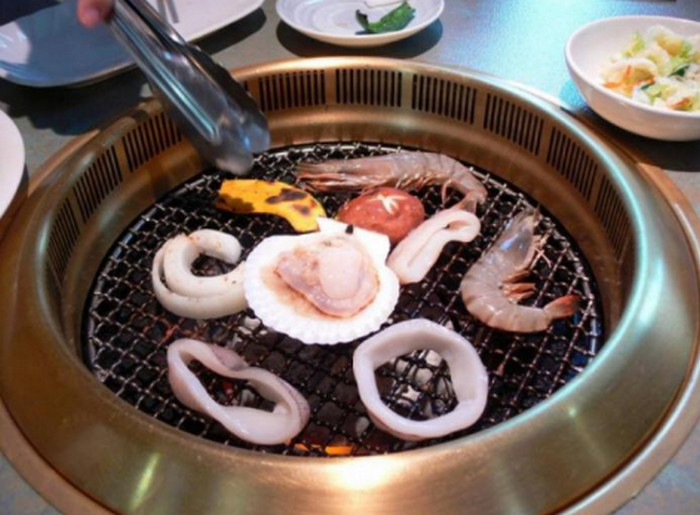 морепродукты на пару