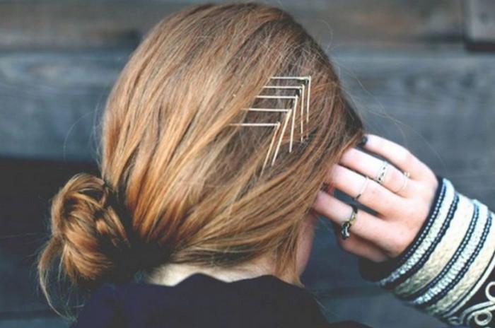 невидимки в волосах