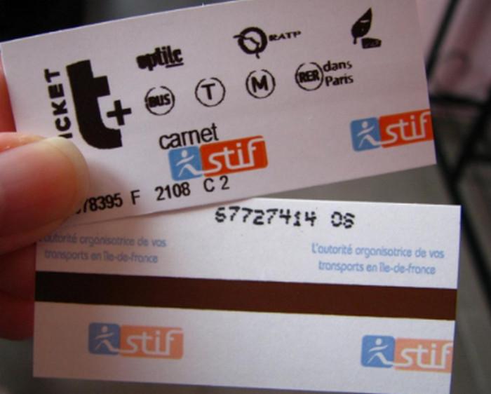 билет в метро в париже