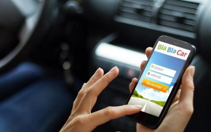 приложение bla bla car на смартфоне