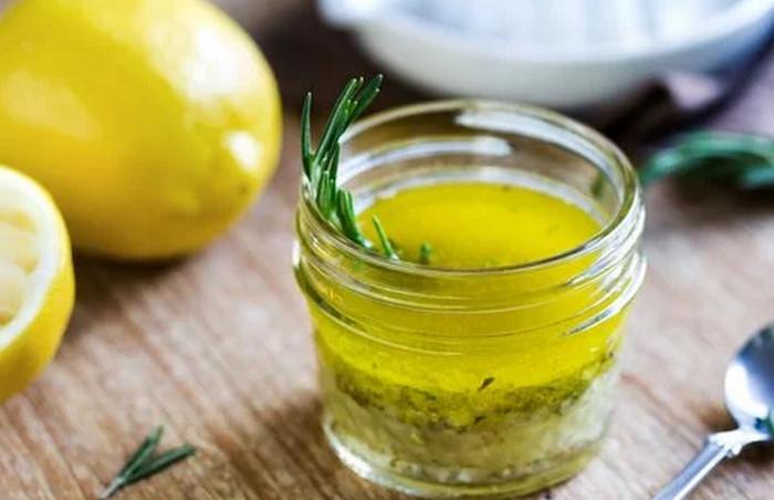 оливковое масло с лимонным соком