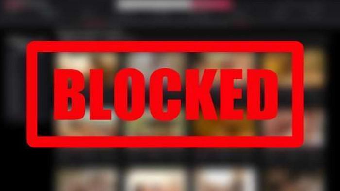 надпись blocked