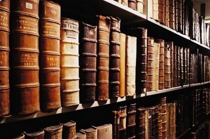 книги на книжной полке