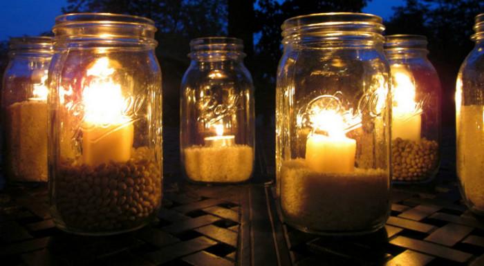 свечи в банках