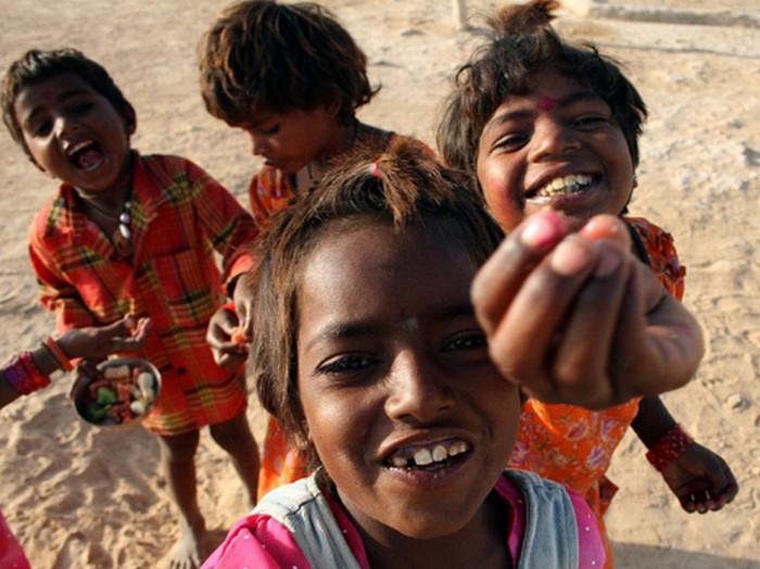 индийские попрошайки