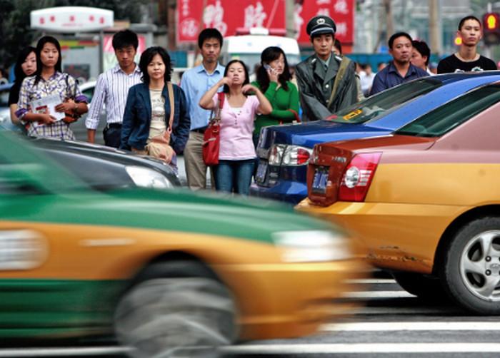 пешеходный переход в китае