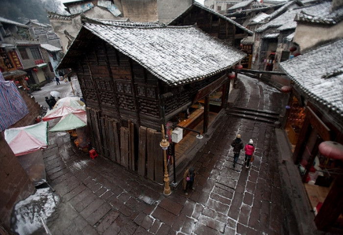 зима в китае