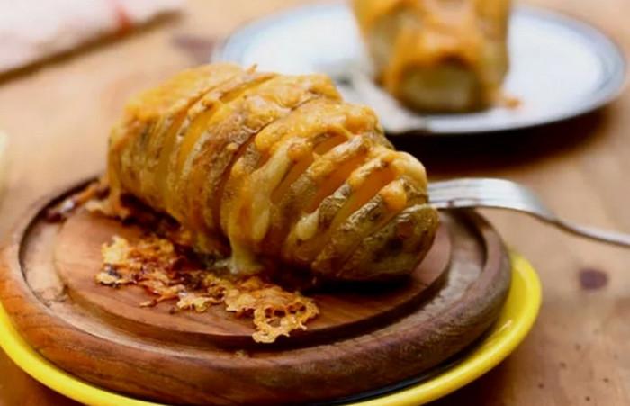 картошка веер с сыром