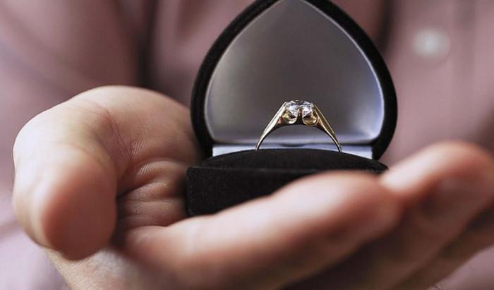 кольцо в коробочке