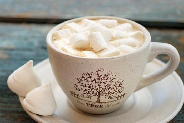 какао с зефиром