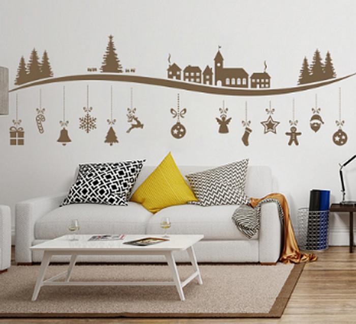 виниловые наклейки на стене