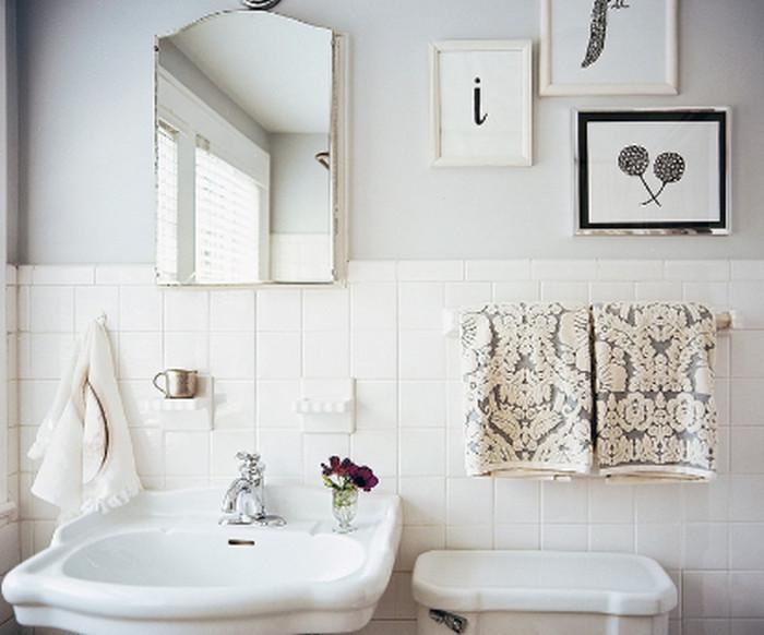 плитка в ванной до половины