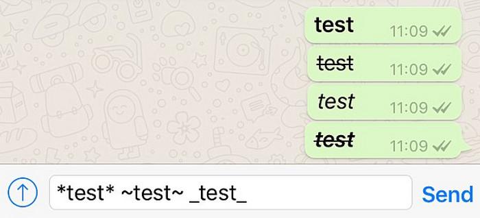 разные шрифты в whatsapp