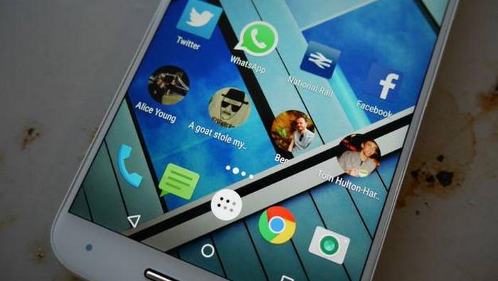 выведенный на экран смартфона контакт