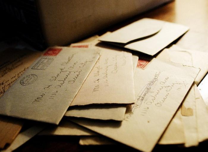 бумажное письмо