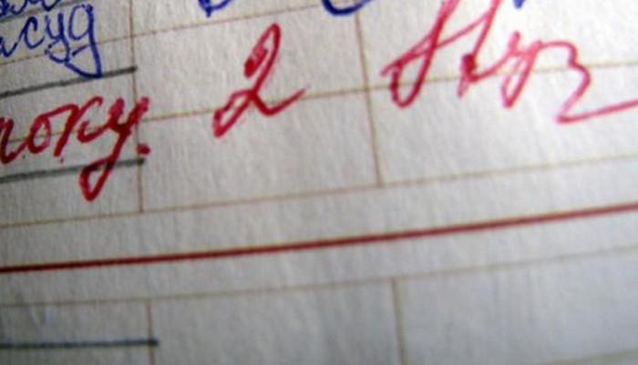 двойка в дневнике