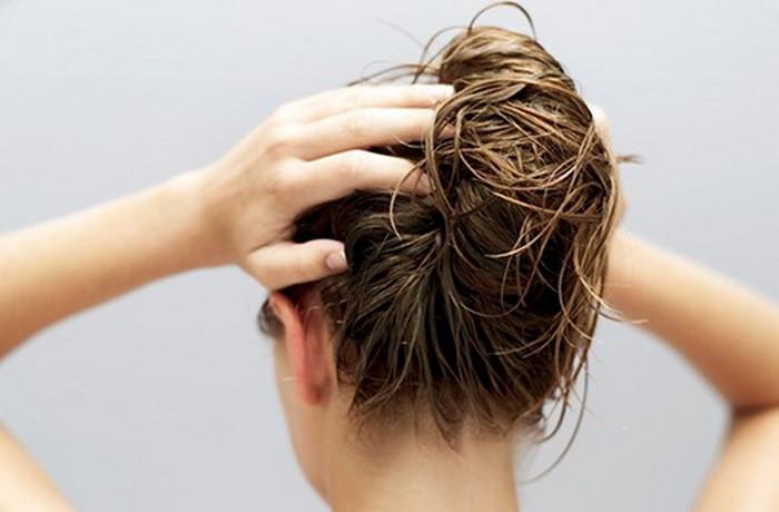масло на волосах