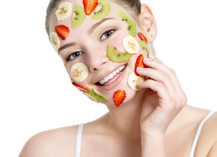фрукты на лице
