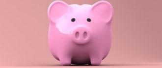 розовая копилка свинья