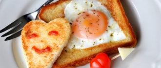 яйца в тосте