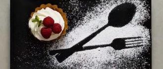 сахарная пудра на тарелке