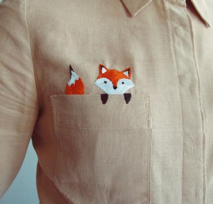 вышивка на блузке