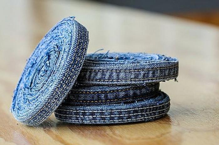 подставка под горячее из джинсовой ткани