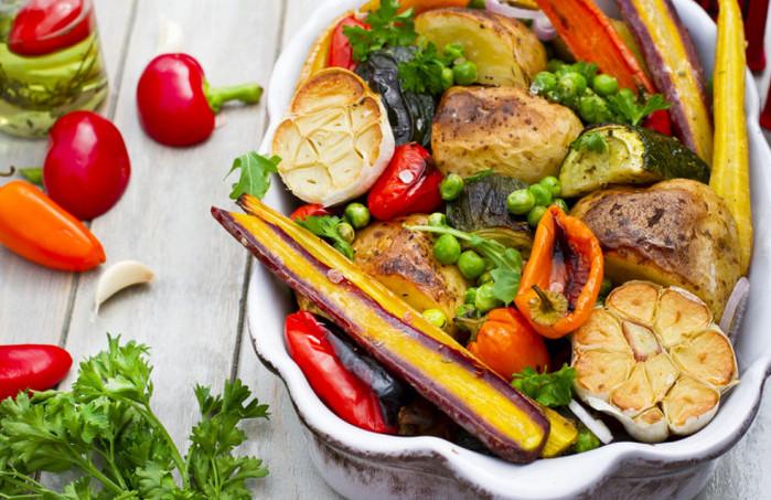 овощи запеченные с чесноком