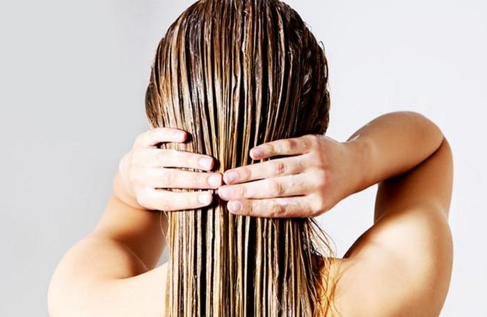масляная маска на волосах
